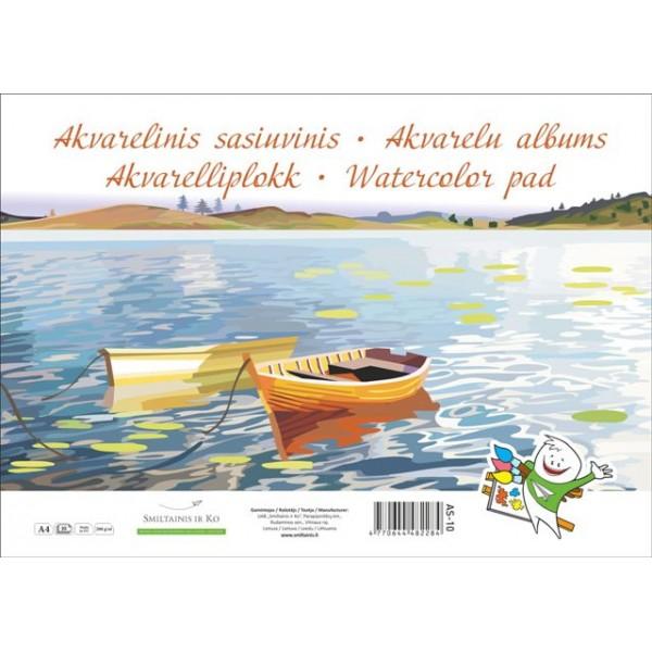 Albums ūdens krāsām AS-20, A4
