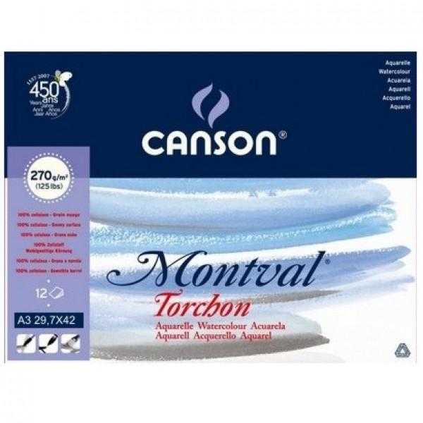 Akvareļu albums Montval - Torchon, A3