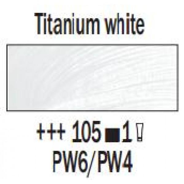 Eļļas krāsa Rembrandt, 40ml - Titanium white 105