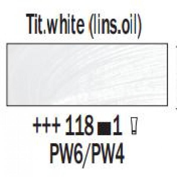 Eļļas krāsa Rembrandt, 40ml - Tit.white (lins.oil)  118