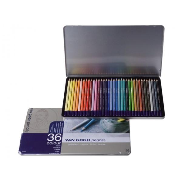 Krāsainie zīmuļi Van Gogh, 36 krāsas