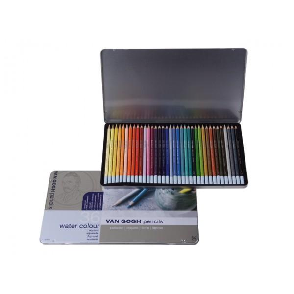 Akvareļzīmuļi Van Gogh, 36 krāsas