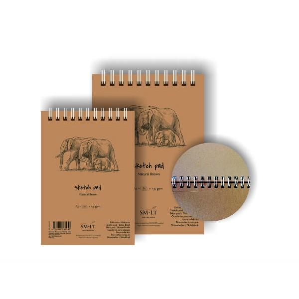 Zīmēšanas bloks Smiltainis - Natural Brown, A5