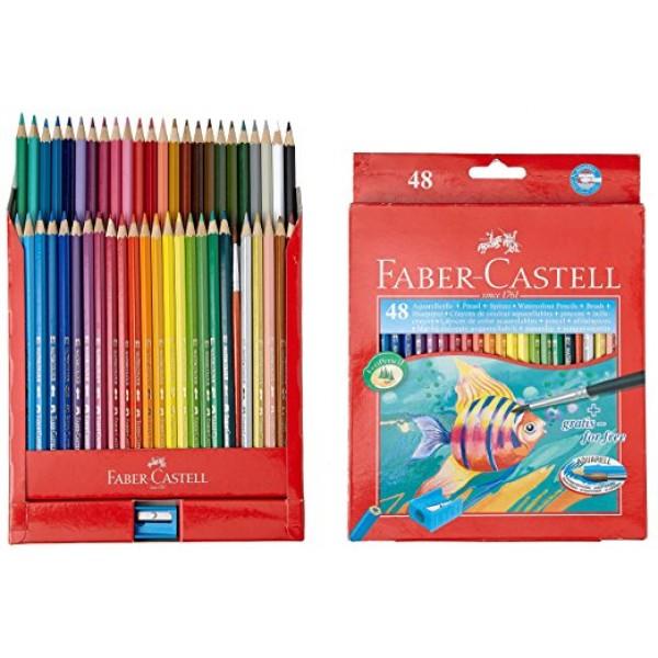 Akvareļu zīmuļi Faber Castell 48 krāsas