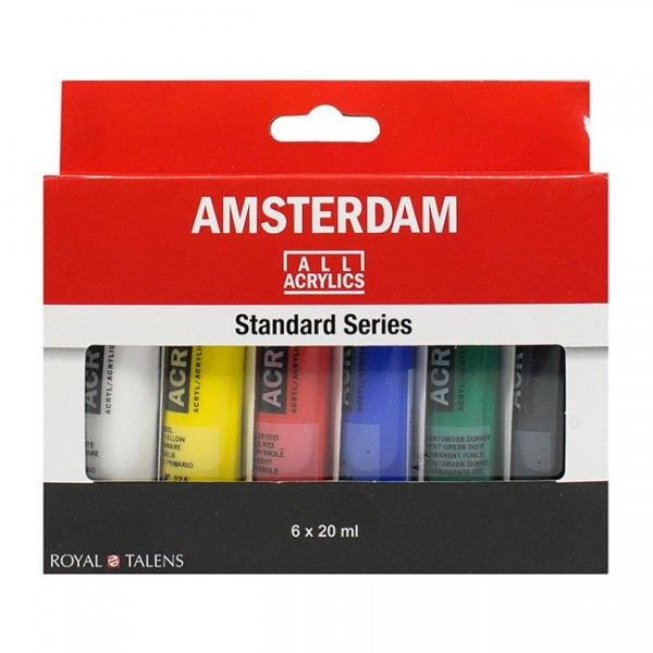 Akrila krāsu komplekts Amsterdam, 6 krāsas, 20ml
