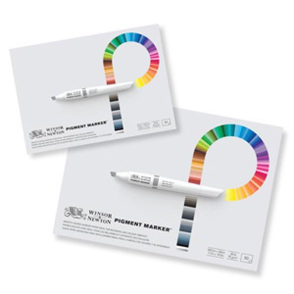 Zīmēšanas bloks marķieriem Winsor&Newton - Pigment Marker A3