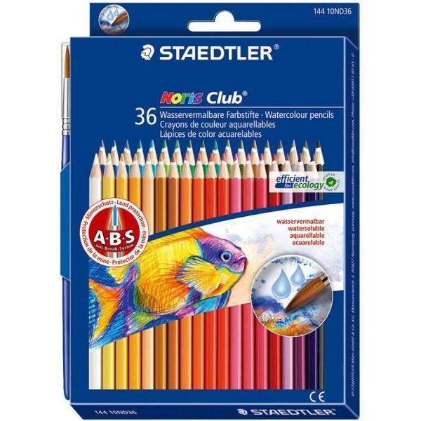 Akvareļu zīmuļi Noris Club, 36 krāsas