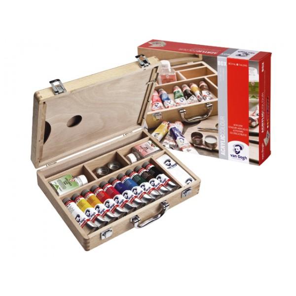 Skiču kaste van Gogh ar akrila krāsām