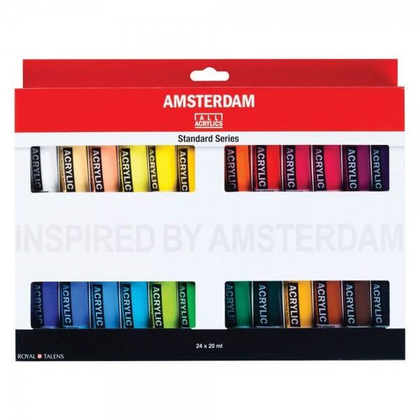 Akrila krāsu komplekts Amsterdam, 24 krāsas, 20ml