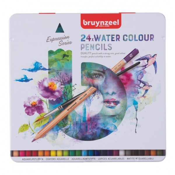 Akvareļzīmuļi Bruynzeel Expression 24 krāsas