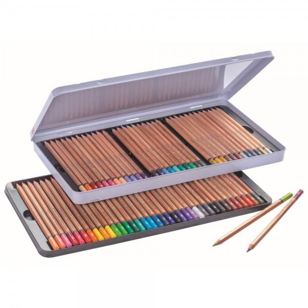 Krāsainie zīmuļi metāla kastē Bruynzeel Expression , 72 krāsas