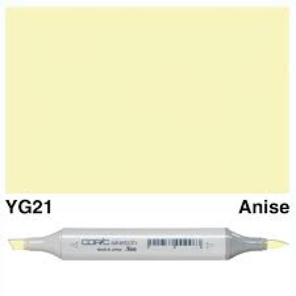 Alkohola bāzes marķieris Copic Sketch- YG21