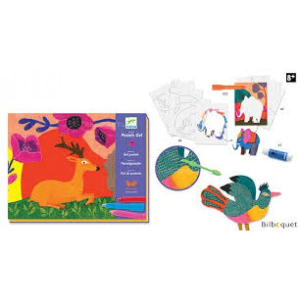 Krāsošana ar krītiņiem- Mežonīga savvaļa  DJ08617