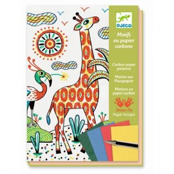 Krāsošanas komplekts ar koppapīru- Džungļi DJ08608