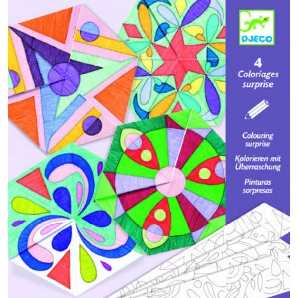 Krāsošana ar pārsteigumu- Mandalu rozes DJ09656