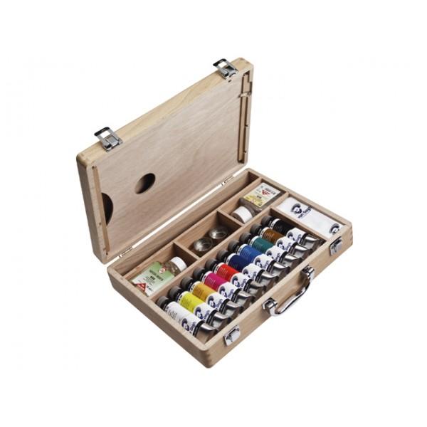 Eļļas krāsu kaste van Gogh, 10 toņi (40ml) + aksesuāri