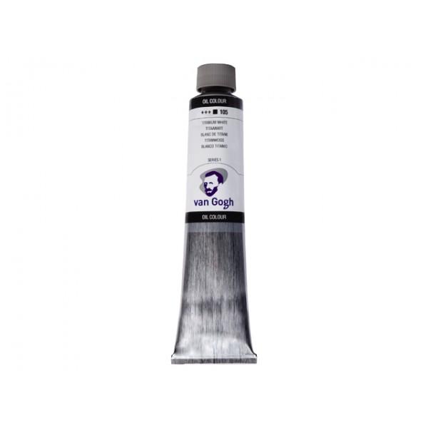 Eļļas krāsa VanGogh 200ml, melna (ivory)