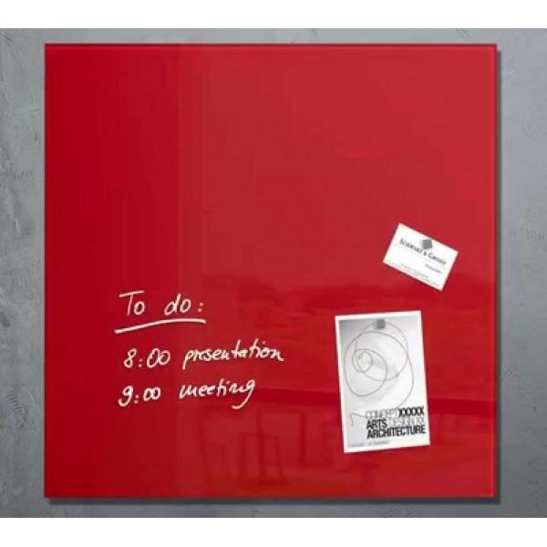 Magnētiskā stikla tāfele ''Ecobra'' 60x40 cm, sarkana