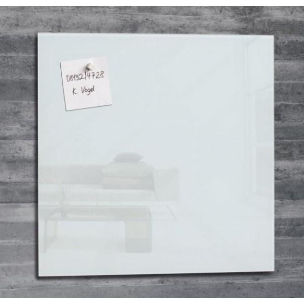 Magnētiskā stikla tāfele ''Ecobra'' 60x40 cm, balta