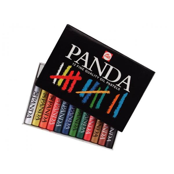 Eļļas pasteļi PANDA, 12 krāsas