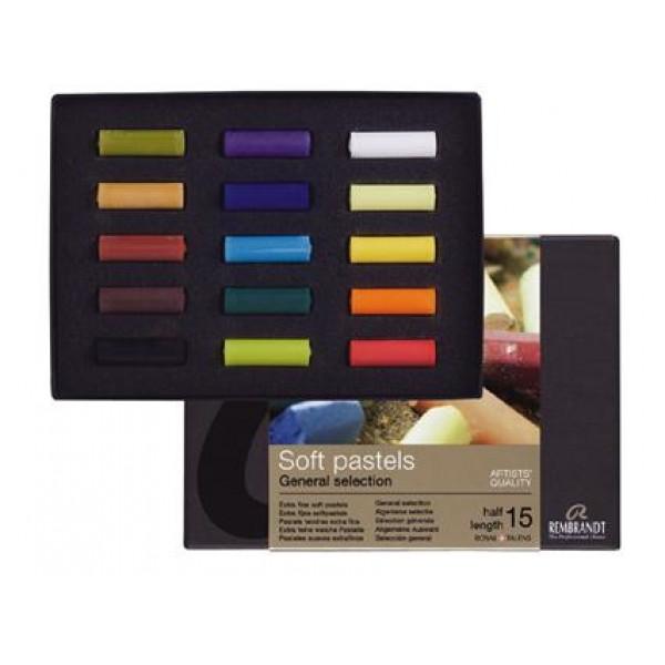 "Pasteļu komplekts Rembrandt   General Selection ""Half length (pusītes)"", 15 krāsas"