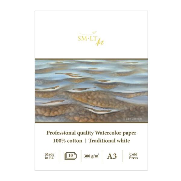 Akvareļu albums SMLT PRO 100% kokvilna A4