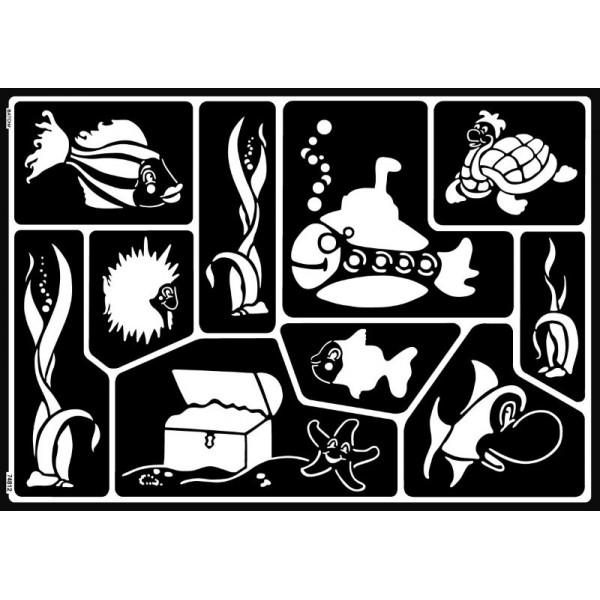 Pašlīmējošs stencils A3 - Under Water World