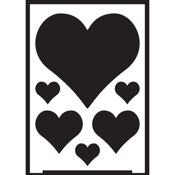 Negatīva efekta stencils A5 - sirdis