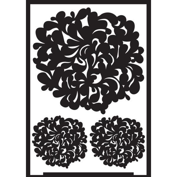 Negatīva efekta stencils A5 - zieds
