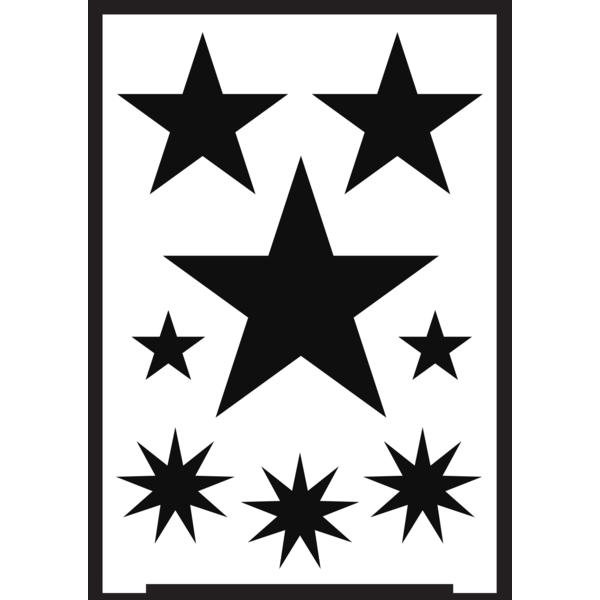 Negatīva efekta stencils A5 - zvaigznes