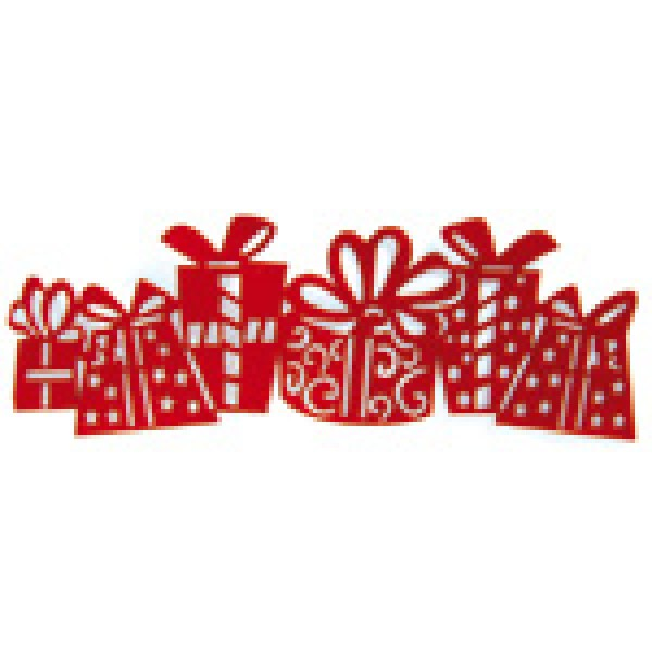 Sarkana, dāvanu formas līmējoša lenta