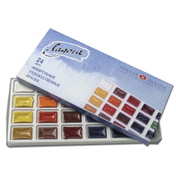 Mākslinieku akvareļkrāsas Ladoga, 24 krāsas