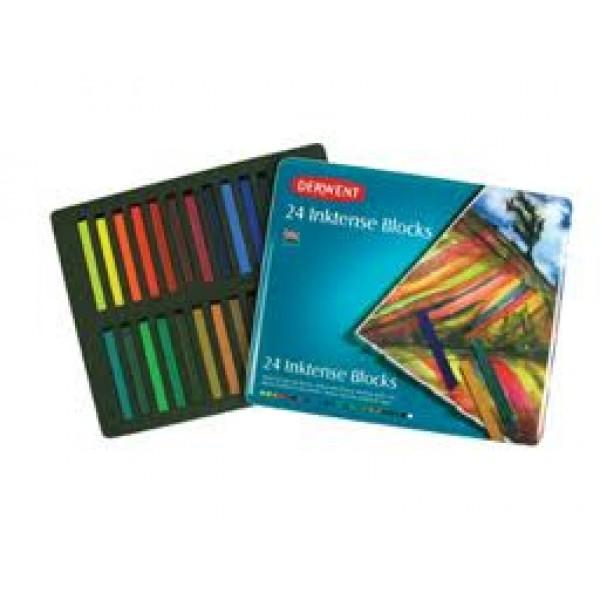Tintes krītiņi Inktense, 24 krāsas
