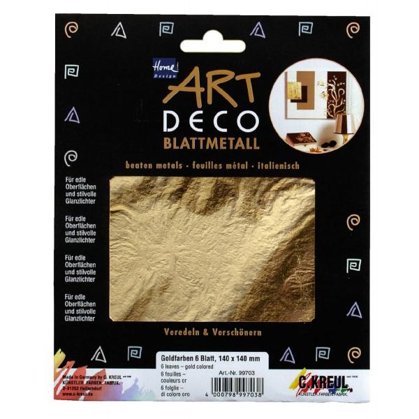 Metāla folijas ArtDeco, zelta 25 loksnes