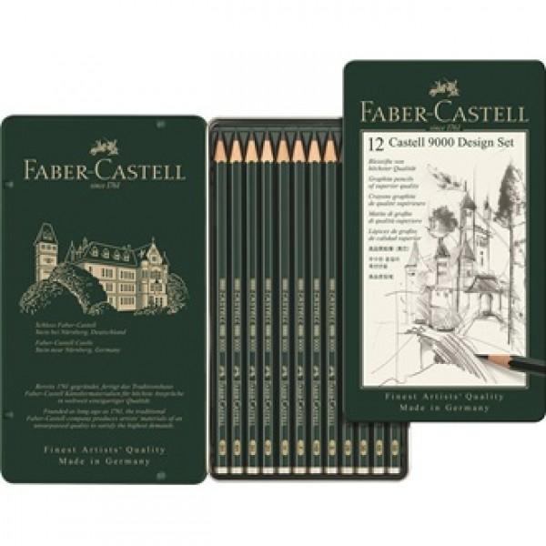 Grafīta zīmuļu Faber-Castell, 5H-5B