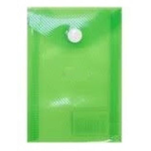 Mape ar podziņu  ELLER, A6 formāt, vertikāla, caurspīdīgi zaļa