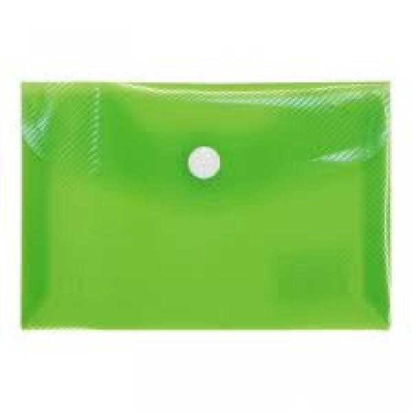 Mape ar podziņu  ELLER, A7 formāt, caurspīdīgi zaļa