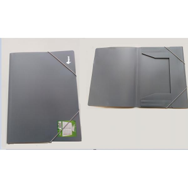 Mape ar gumiju FORPUS A4 formāts, 20 mm, pelēka