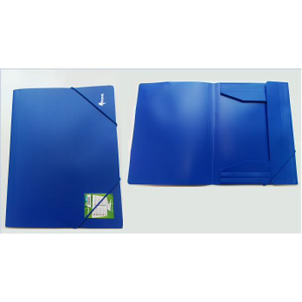 Mape ar gumiju FORPUS A4 formāts, 20 mm, zila