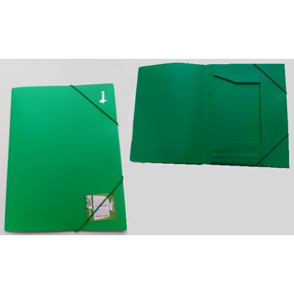 Mape ar gumiju FORPUS A4 formāts, 20 mm, zaļa