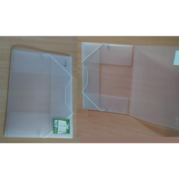 Mape ar gumiju FORPUS A4 formāts, 20 mm,caurspīdīga matēta