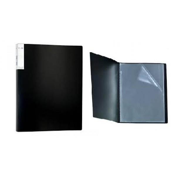 Mape prospektiem ELLER, A4 formāts, ar 20 kabatiņām, melna
