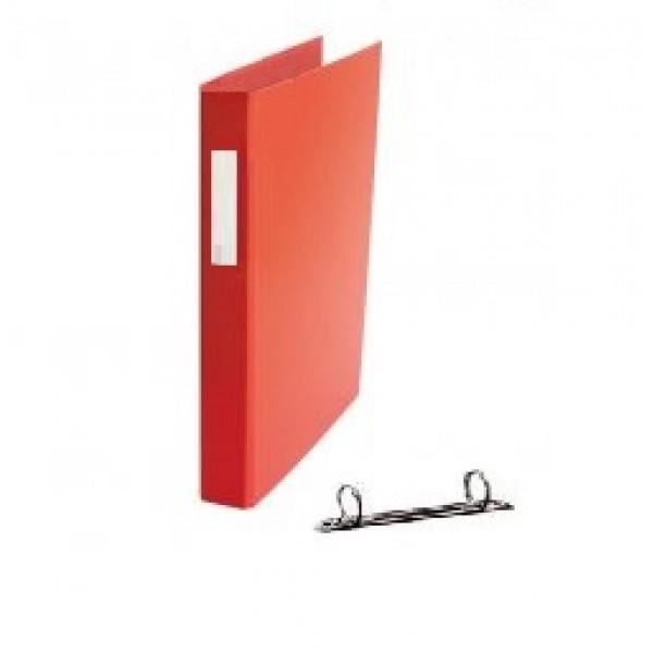 Mape reģistrs ar 2 riņķiem ELLER, A4, platums 35 mm,  sarkana