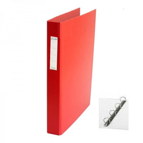 Mape reģistrs ar 4 riņķiem ELLER, A4, platums 35 mm,  sarkana