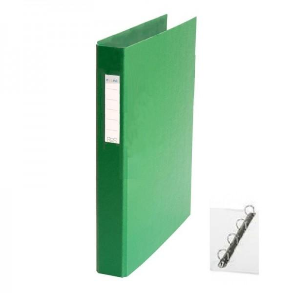 Mape reģistrs ar 4 riņķiem ELLER, A4, platums 35 mm,  tumši zaļa