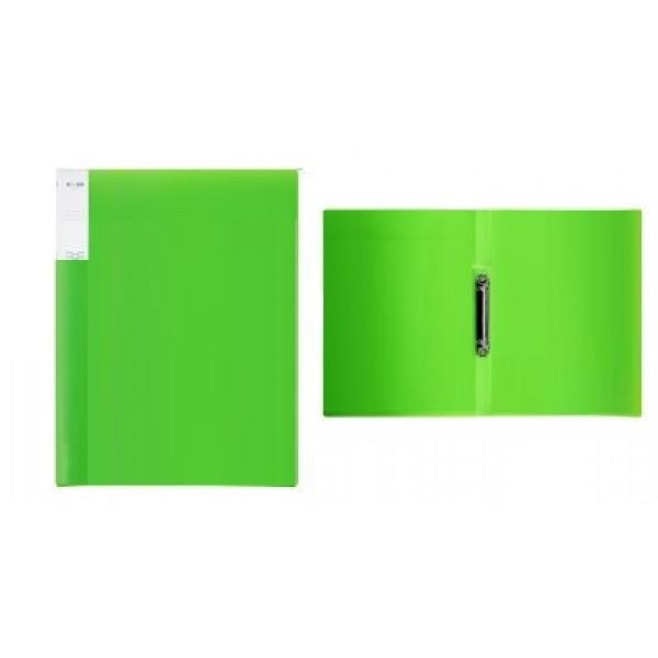 Mape ar 2 riņķiem ELLER A4 formāts, platums 20 mm, PP materiāla, zaļa