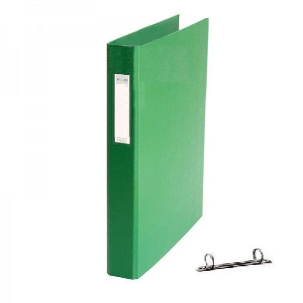 Mape reģistrs ar 2 riņķiem ELLER, A4, platums 35 mm, zaļa