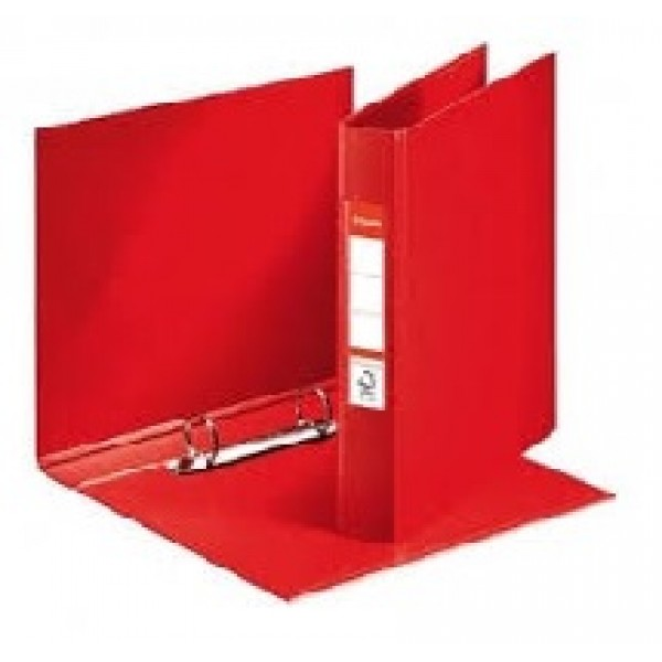 Mape reģistrs Esselte ar 2 riņķiem, A5, muguriņa 35mm,  sarkana