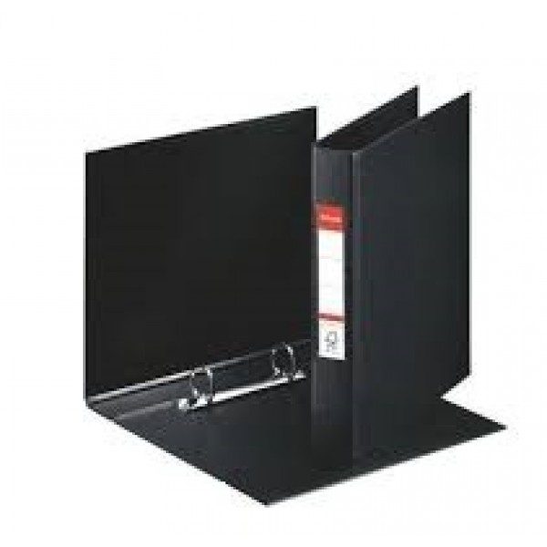 Mape reģistrs Esselte ar 2 riņķiem, A5, muguriņa 35 mm,  melna