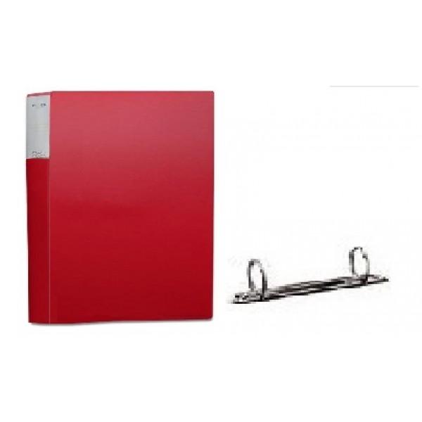 Mape ar 2 riņķiem ELLER A4 formāts, platums 20 mm, PP materiāla,  sarkana
